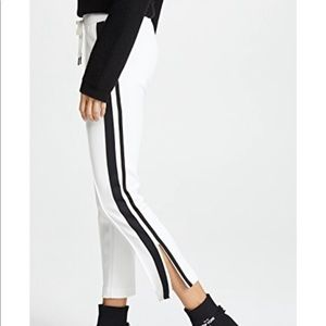 Pam & Gela Off White Track Pants with Sport Stripe